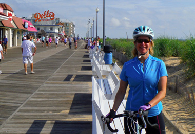 boardwalk biking in Rehoboth