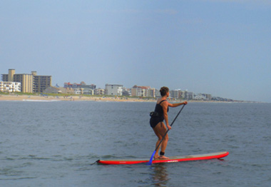 PaddleBoarding in the ocean!